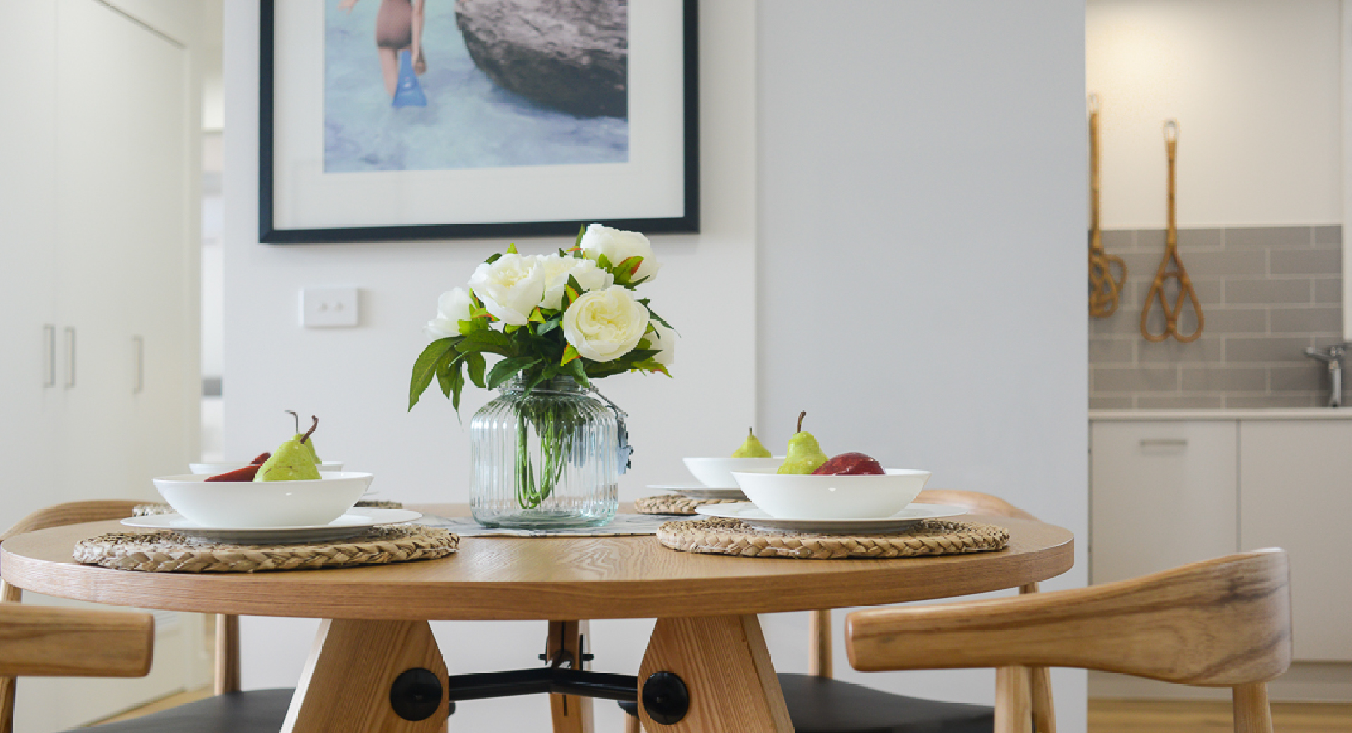 Dining room Property Styling Melbourne & Gippsland