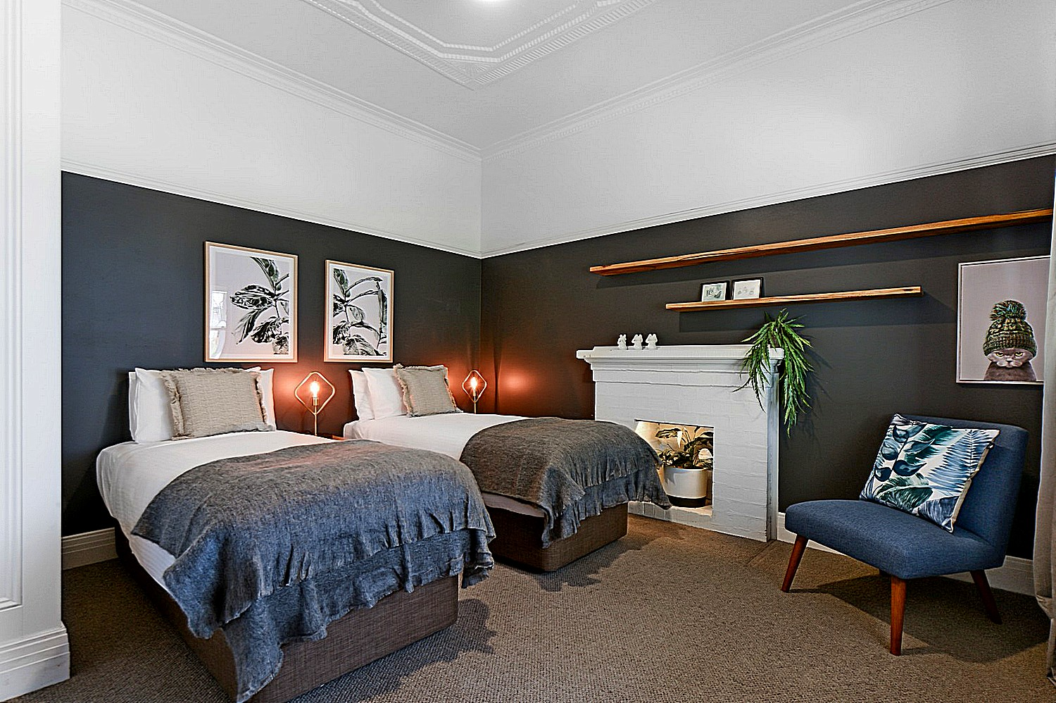 Property styling for twin beds